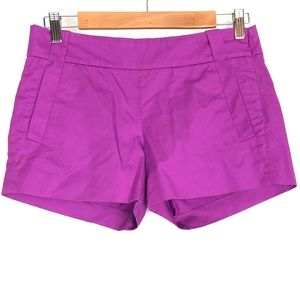J. Crew Dark Rose pink side zipper pocket shorts